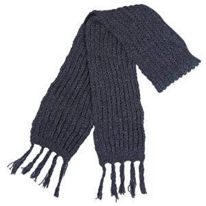 Plain Charcoal Muffler Winter Woolen Muffler Charcoal