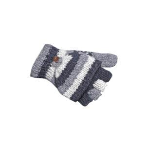 Half-finger Mittens Gloves Fingerless Mitten Gloves Charcoal