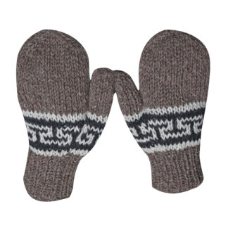 Mittens Men Brown