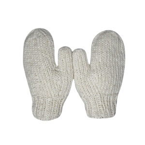 Mittens Hand Knit Wool Mittens Brown