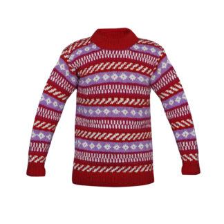 Sweater Sweater Pink-White