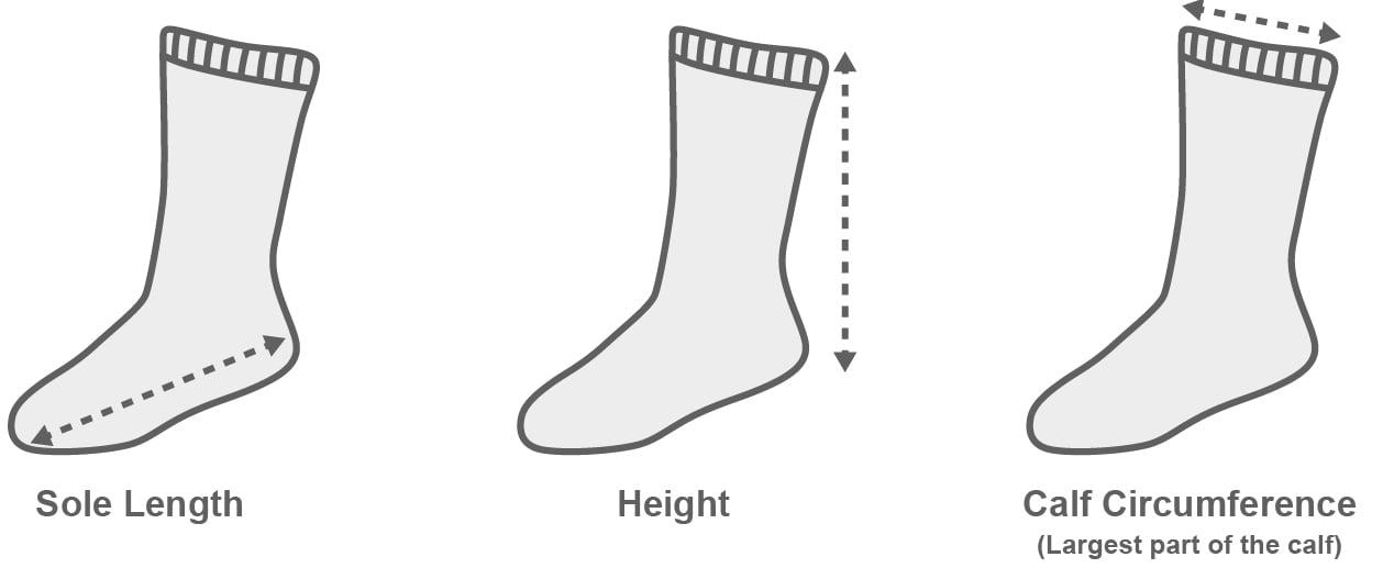 sizechart Socks Socks Turquoise Mix