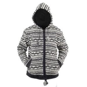 Jacket Jacket White-Brown Pattern