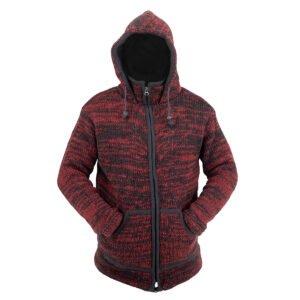 Jacket Jacket Maroon-Black