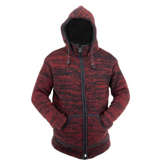 Jacket Jacket Maroon-Black