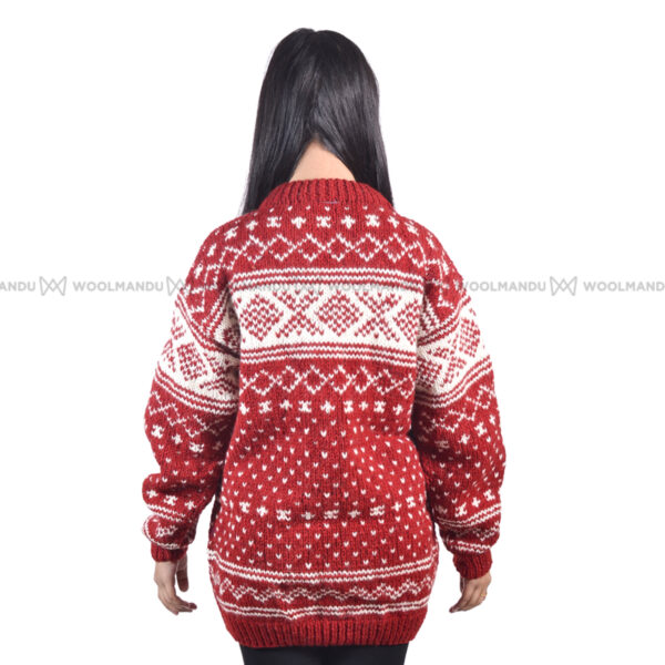 Red and White Christmas Sweater