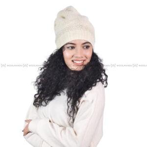 Crochet Beanie Beanie White