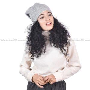Crochet Beanie Beanie Light Grey