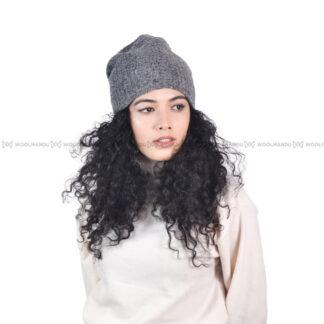 Crochet Beanie Beanie Grey