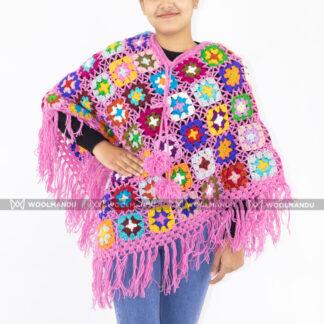 Handmade Crochet Poncho Poncho flower