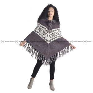 Woolen Knitted Poncho Poncho Mix