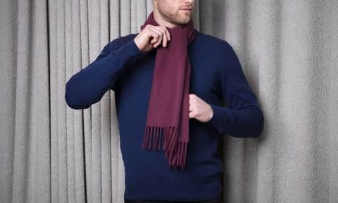 tieaoverhandscarfknot large 1 How to Tie a Woolen Muffler?